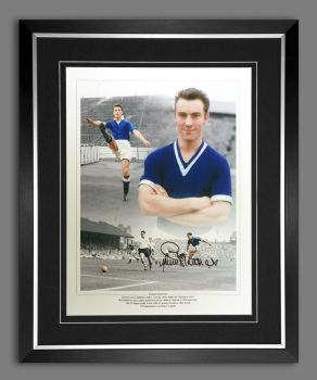 Jimmy Greaves Hand Signed 12x16 Chelsea Football Photograph In a Frame