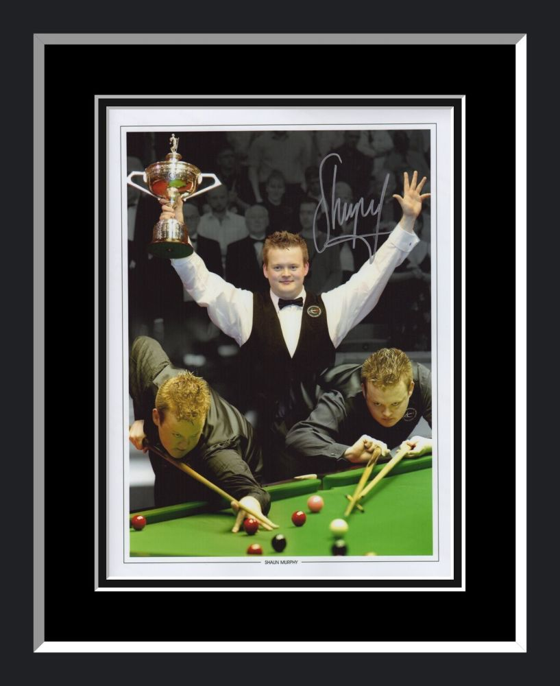Shaun Murphy Signed And Framed Snooker Montage