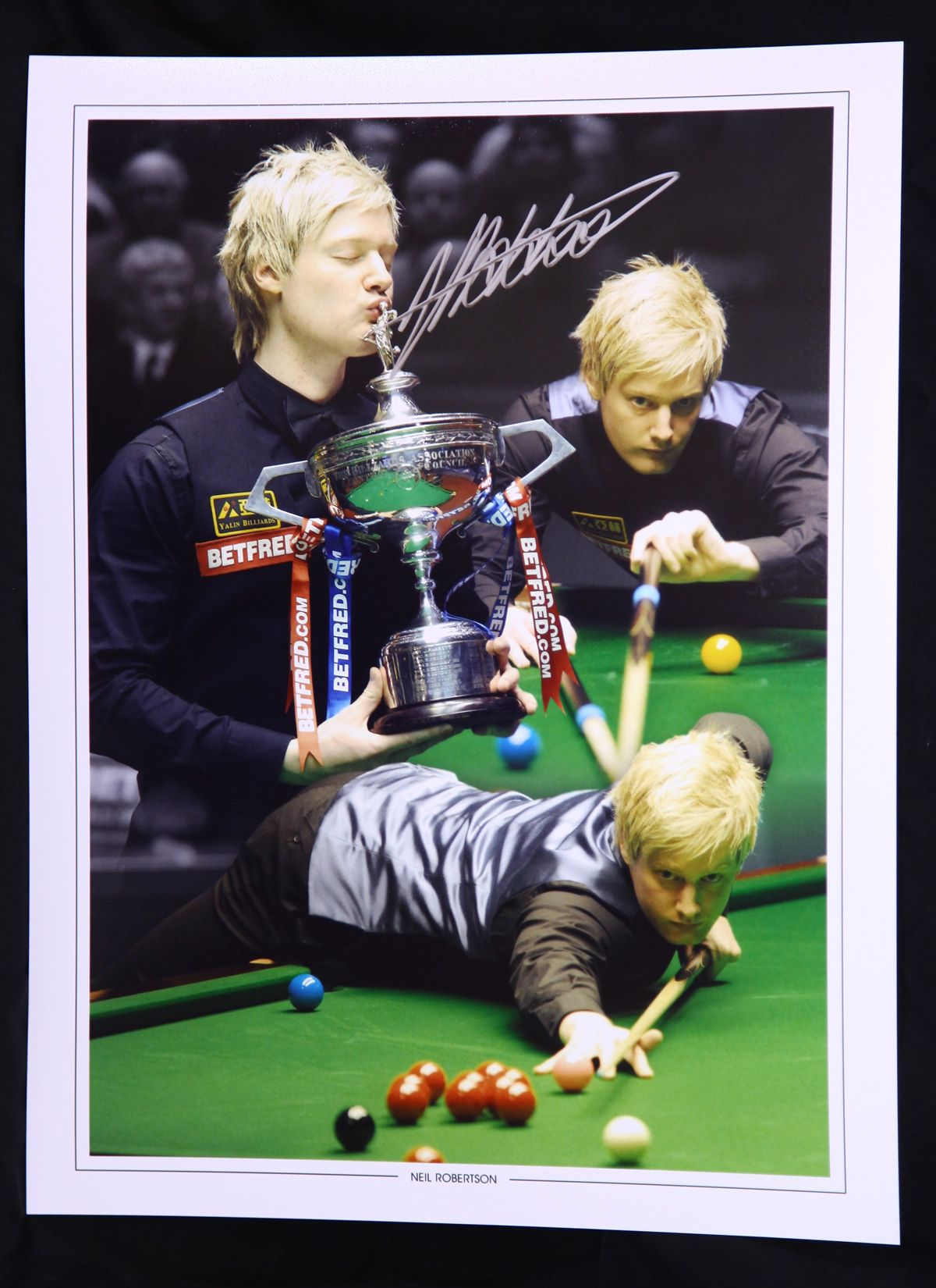 Neil Robertson Signed 12x16 Snooker Montage