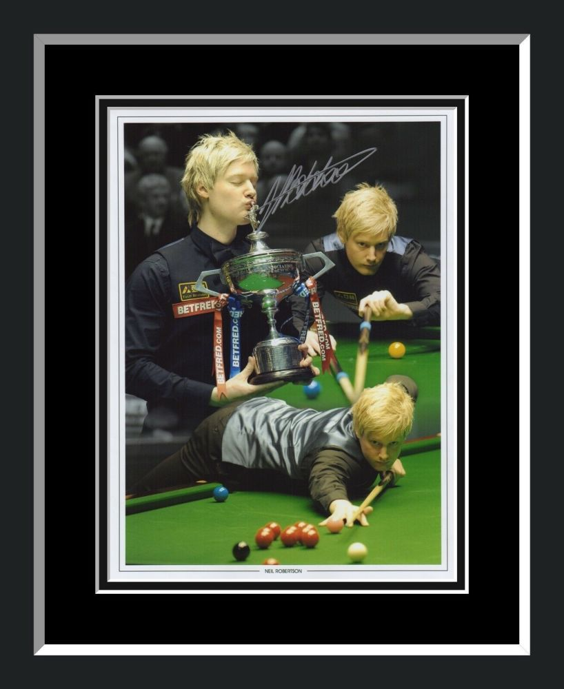 Neil Robertson Signed And Frmed12x16 Snooker Montage