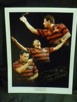 Dennis Priestley Signed Darts Photograph