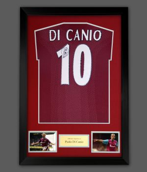 Paolo Di Canio Signed  West Ham United Football Shirt In A Frame