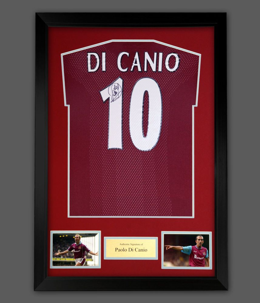 Paolo Di Canio Signed  West Ham United Football Photograph In A Frame