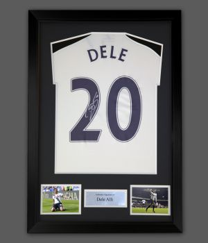 Dele Alli  Hand  Signed  Replica Spurs Football Shirt In A Frame Presentation