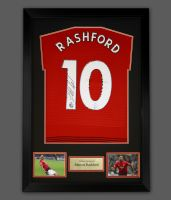 Marcus Rashford Hand Signed Manchester United  Football Shirt In A Frame Presentation ...