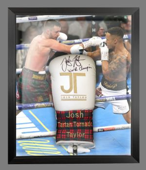 Josh Taylor Hand Signed Boxing Glove In A Dome Frame : A