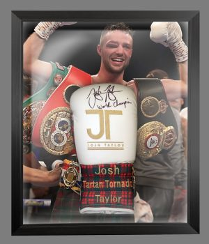 Josh Taylor Hand Signed Boxing Glove In A Dome Frame : B