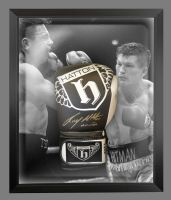 Ricky Hatton Hand Signed Custom Made Boxing Glove In A Dome Frame