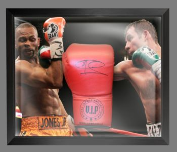 Joe Calzaghe  Hand Signed Red VIP Boxing Glove In A Dome Frame : D