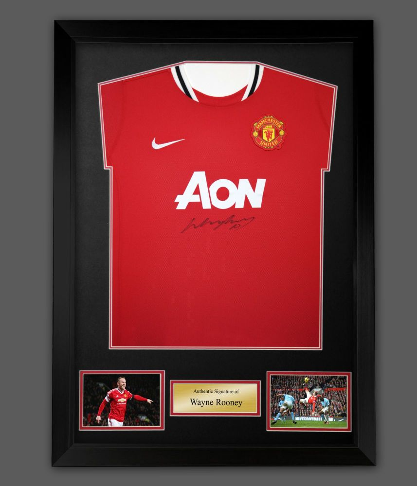Wayne Rooney Signed Manchester United Football Shirt In A Frame