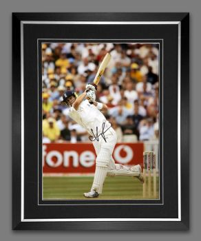Kevin Pietersen  Signed And Framed Cricket 12x16 Photograph : B
