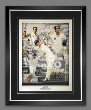 Kevin Pietersen  Signed And Framed Cricket 12x16 Photograph : A