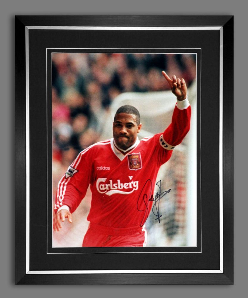 John Barnes Liverpool  Signed And Framed 12x16  Football Photograph : B