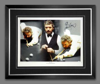 John Virgo Signed And Framed Snooker Montage