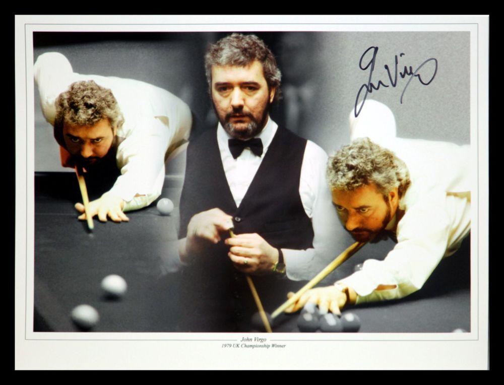 John Virgo Signed Snooker Montage