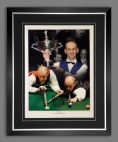 Peter Ebdon Signed And Framed Snooker Montage
