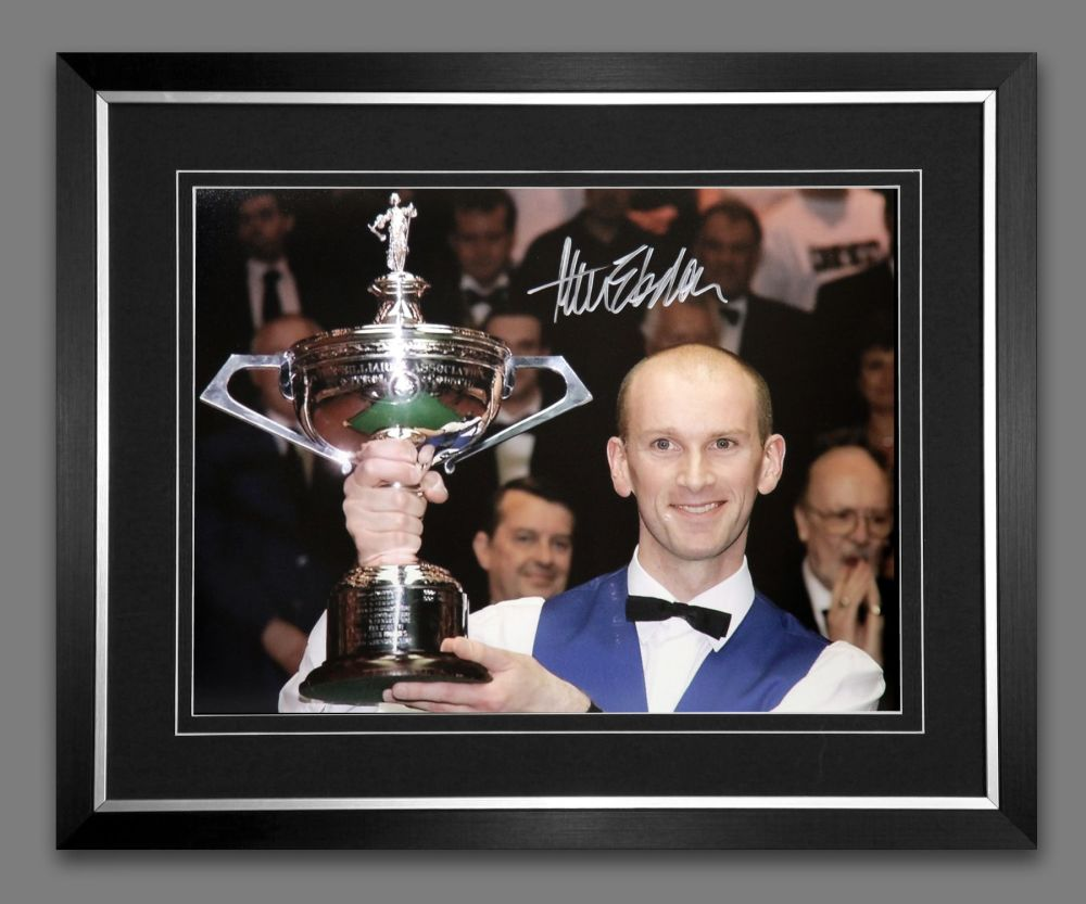 Peter Ebdon Signed And Framed Snooker Photograph