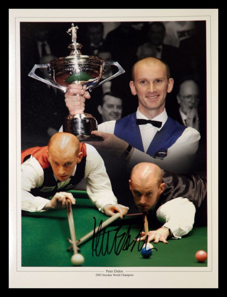 Peter Ebdon Signed Snooker Montage