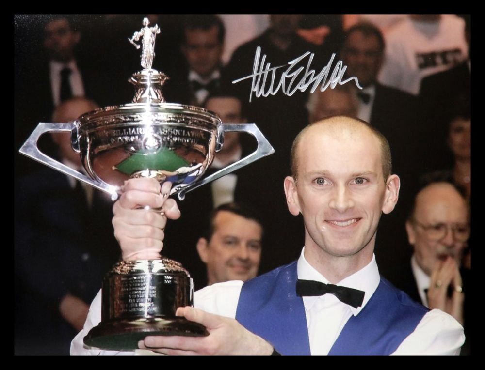Peter Ebdon Signed Snooker  Photograph