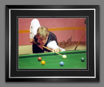 Stephen Hendry Signed And Framed Snooker Photograph : A