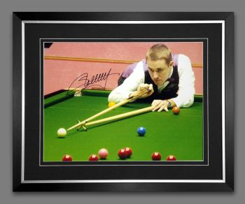 Stephen Hendry Signed And Framed Snooker Photograph : B