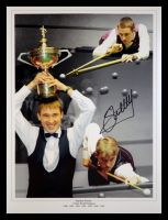 Stephen Hendry Signed Snooker Montage