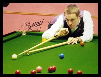 Stephen Hendry Signed Snooker Photograph : B