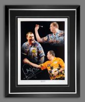 Wayne Mardle Signed And Framed Darts Photograph