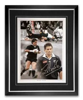 Zinzan Brooke Signed And Framed Rugby 12x16 Photograph