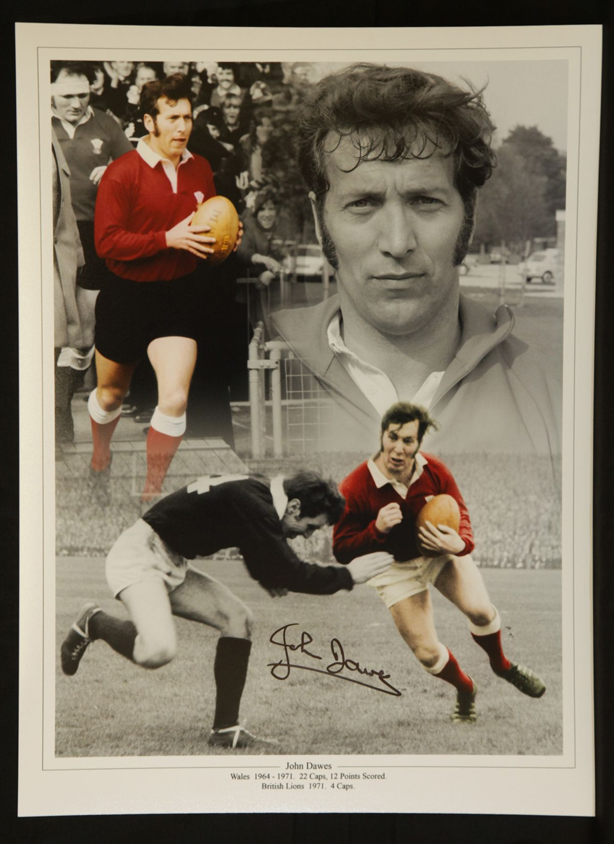 John Dawes Wales Rugby Legend  12x16 Signed Photograph