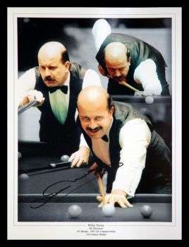 Willie Thorne signed  Snooker 12x16 photograph