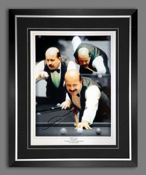 Willie Thorne signed And Framed  12x16 photograph