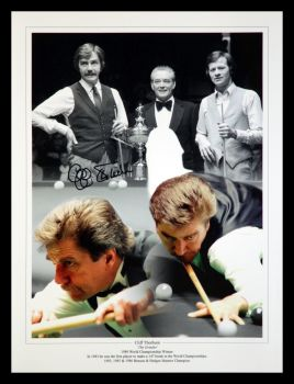 Cliff Thorburn signed  Snooker 12x16 Montage