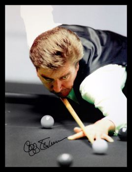 Cliff Thorburn signed  Snooker 12x16 Photograpg A