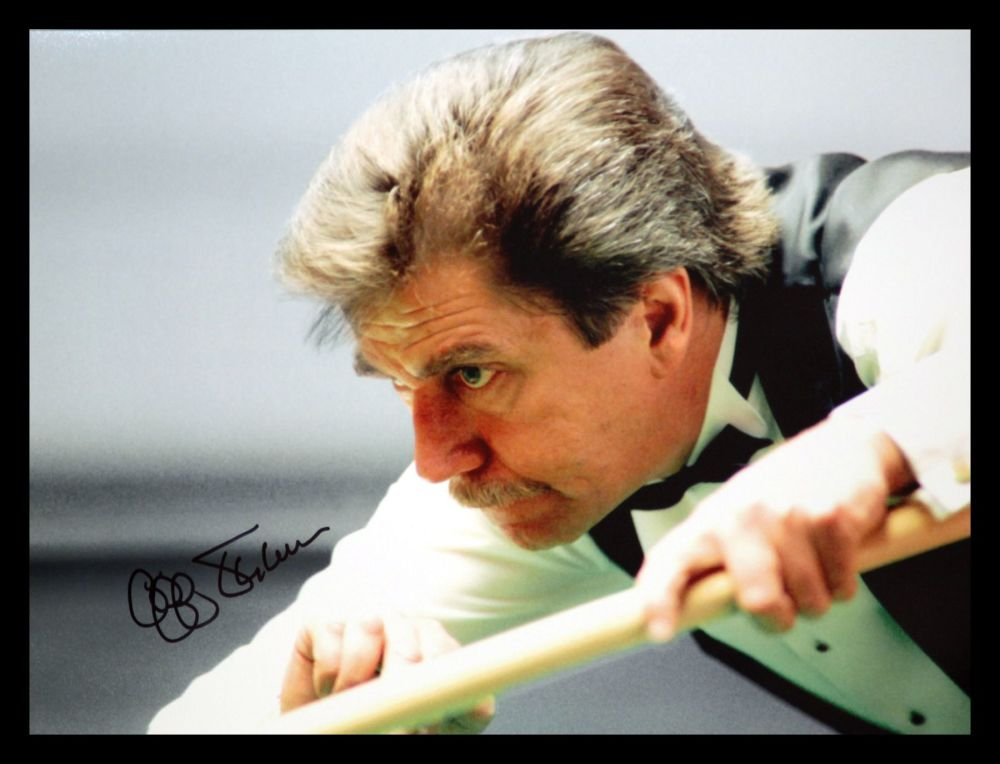 Cliff Thorburn signed  Snooker 12x16 Photograpg : B