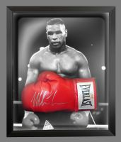 Mike Tyson Signed Red Everlast Boxing Glove In A Dome Frame: Signed in Silver Pen