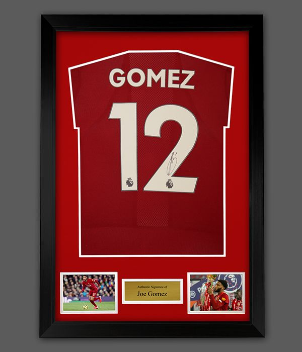 Joe Gomez Hand Signed Liverpool Fc Football Shirt In A Framed Presentation