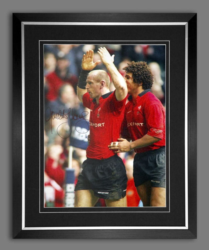 Gareth Thomas Hand Signed and Framed 12x16 Wales Rugby Photograph A