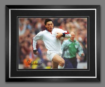 Rory Underwood Hand Signed And Framed 12x16 England Rugby Photograph : C