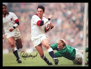 Rory Underwood Hand Signed  12x16 England Rugby Photograph : A