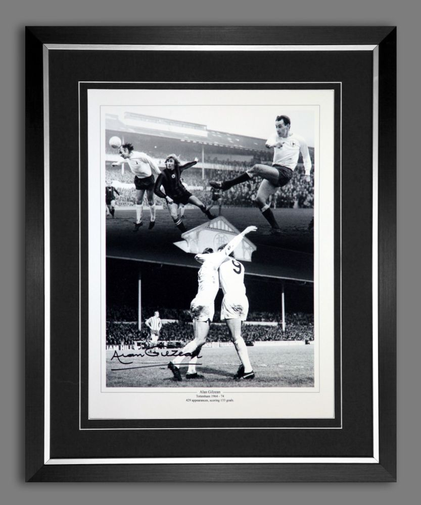 Alan Gilzean  Hand Signed And Framed Tottenham Hotspurs 12x16 Photograph