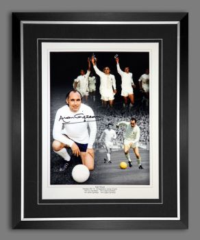 Alan Gilzean  Hand Signed And Framed Tottenham Hotspurs 12x16 Montage