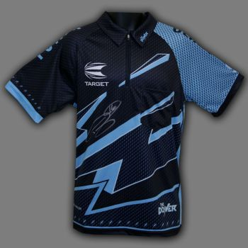 Phil Taylor  Hand Signed Official Target Darts Shirt. Signed On Front