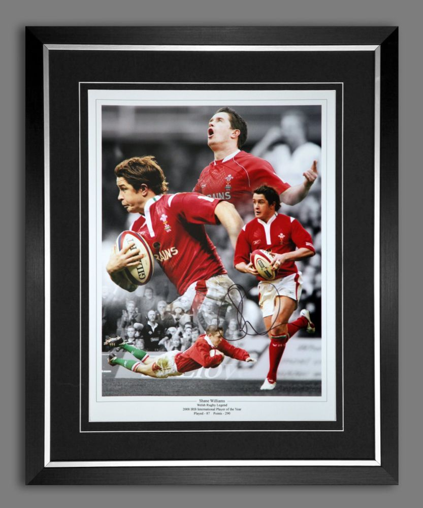 Shane Williams Rugby 12x16 Signed And Framed Montage