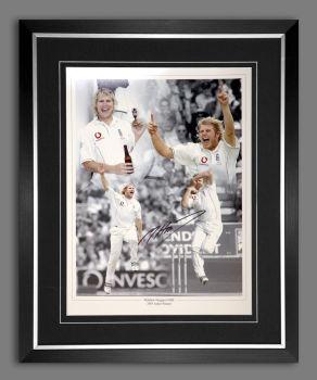 Matthew Hoggard Cricket Hand Signed And Framed 12x16 Photograph