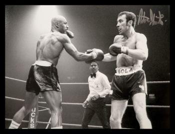 """Alan""""Boom Boom"""" Minter  Vs Hagler Signed 12x16 Boxing Photograph"""