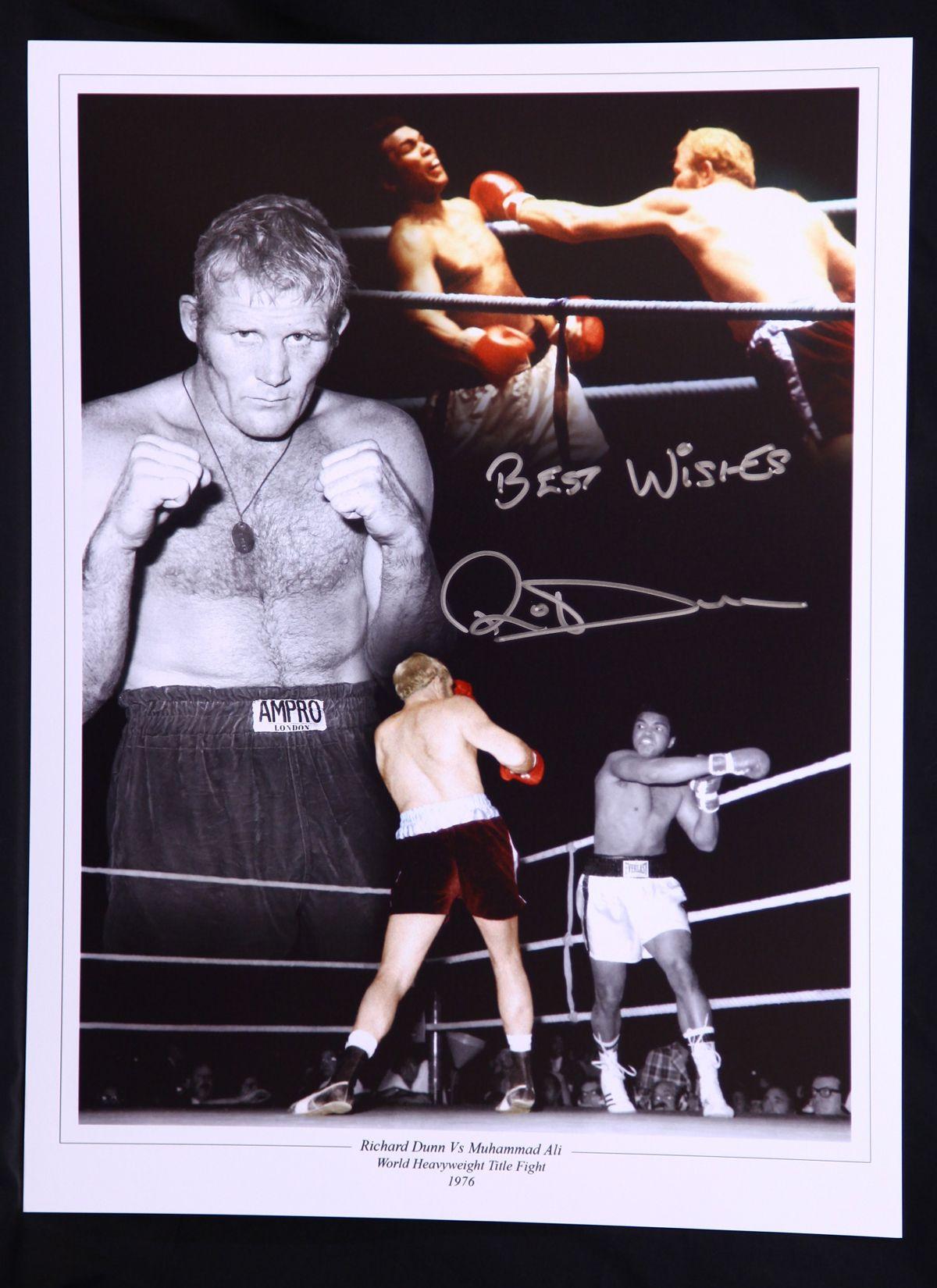 Richard Dunn Boxing Signed 12x16 Photograph