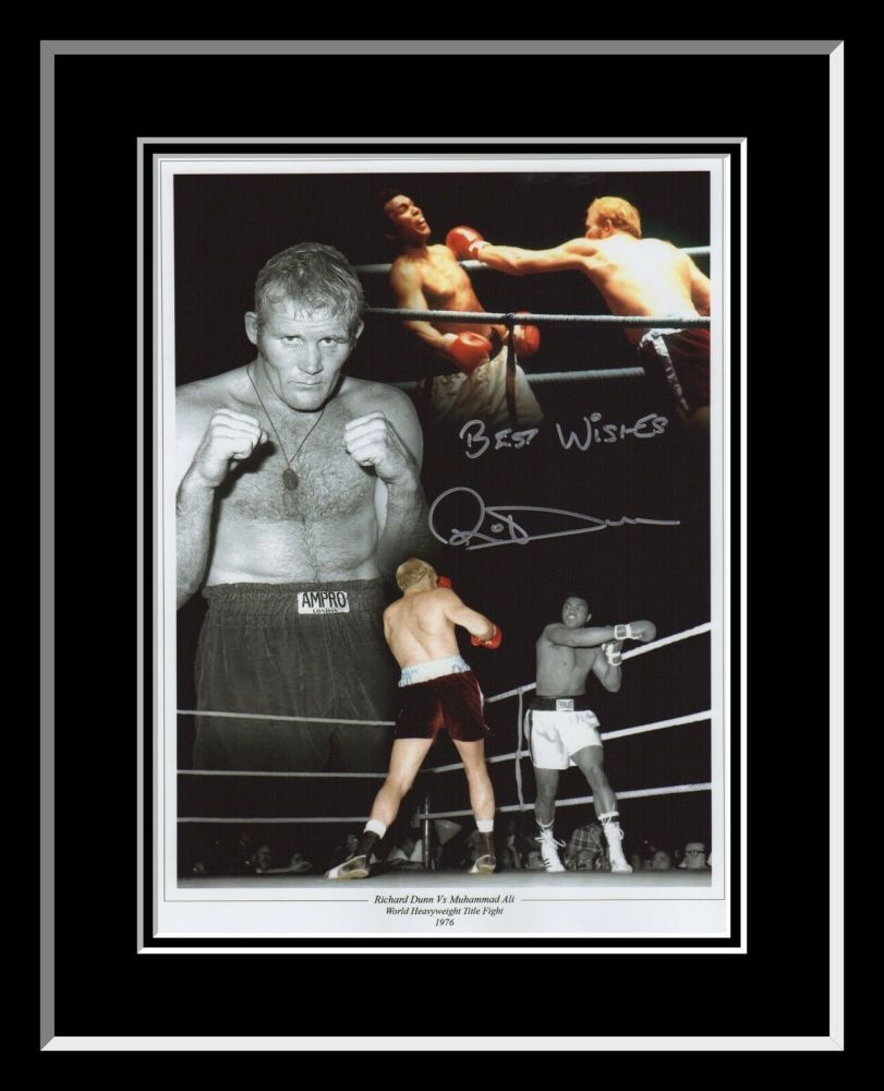 Richard Dunn Boxing Signed  And Framed 12x16 Photograph