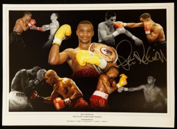 Steve Robinson Signed Boxing 12x16 Montage