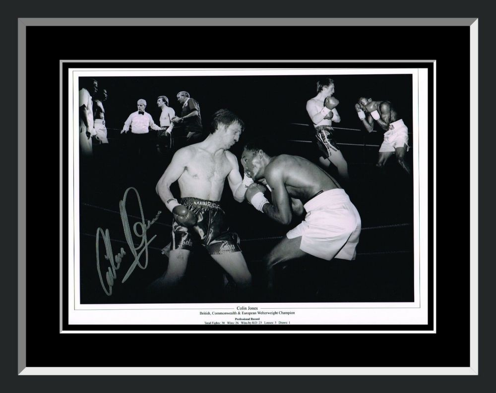 Colin Jones Boxing Signed And Framed 12x16 Photograph